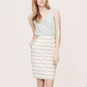LOFT striped sailor skirt